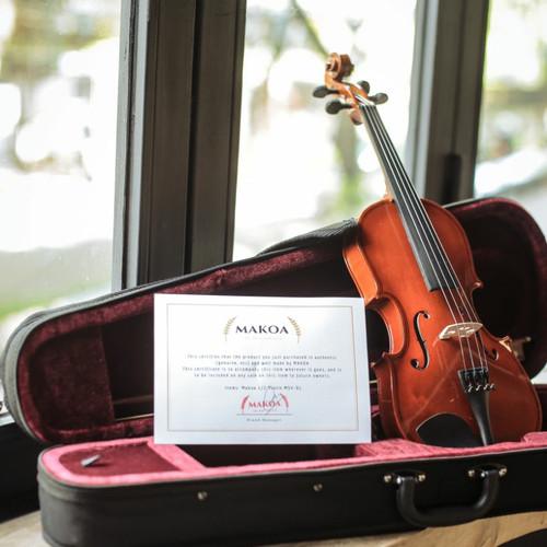 Foto Produk Biola Akustik 1/2 - Biola Makoa Full Set Hardcase - Violin Biola Anak dari sarabeautycare and music