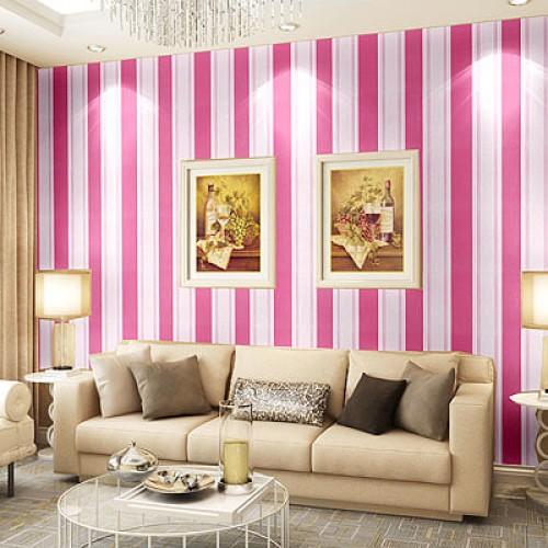 Foto Produk S25 Wallpaper Sticker Stripe Pink uk. 45cm x 10m dari Elyzavita San