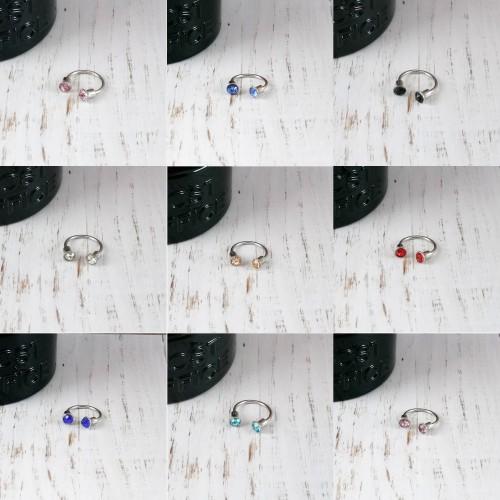 Foto Produk Bp0131 - Piercing Ring Earring Antung Tindik Piercing Pria Wanita Swag - Soft Blue dari Serbu Lima Ribu