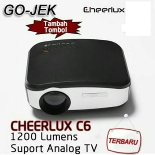Foto Produk CHEERLUX C6 Mini LED Projector (Bisa ke antena TV) Paket Mirroring dari PIK88Elektronik