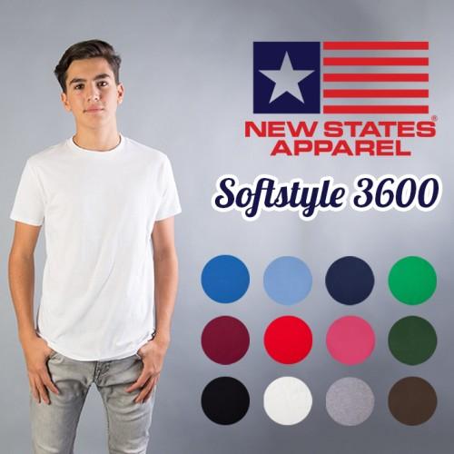 Foto Produk KAOS New States Softstyle PUTIH ( SIZE S-XL ) Bahan seperti Gildan - Putih, S dari Kaos Polos Theobald