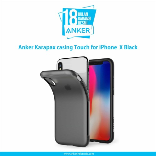 Foto Produk Casing Anker Karapax Touch for IPhone X Black - A9004H11 dari Anker Indonesia
