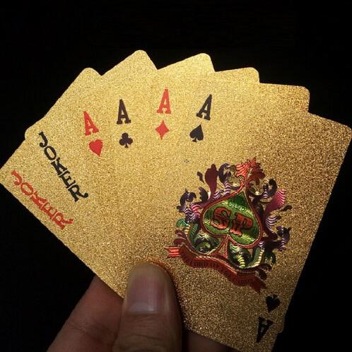 Foto Produk Kartu Remi Poker Gold Foil - Golden dari web komputindo