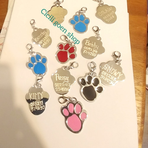 Foto Produk Liontin tulang jejak metal anti karat kalung anjing kucing kelinci dari cicilia Goen Shop