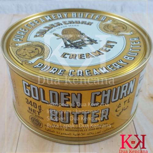 Foto Produk Butter / Mentega Golden Churn Pure Creamery Butter 340GR dari Dua Kencana