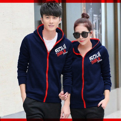 Foto Produk [Cp Jkt Soulmate Navy CL] couple jaket babyterry navy dari FASHIONISTA's GROSIR