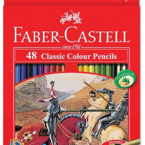Foto Produk Pensil Warna Faber Castell 48 Warna Panjang Classic dari Groceran Stationary