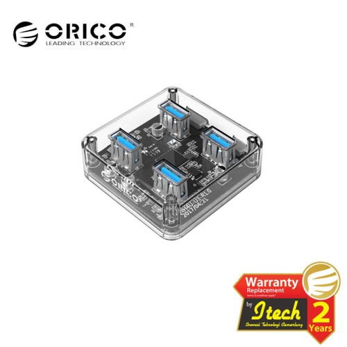 Foto Produk ORICO MH4U-U3 USB3.0 Transparent Desktop HUB dari ORICO INDONESIA