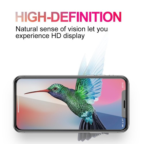 Foto Produk HD 9H Full Cover Tempered Glass Anti Gores iPhone X 8 7 6S 6 Plus - Hitam, 6P atau 6SP dari iShop Here