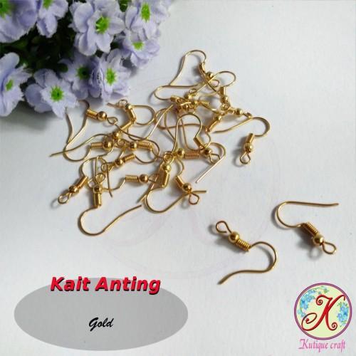 Foto Produk Kait Anting Gold per 50pcs dari Kutique Craft