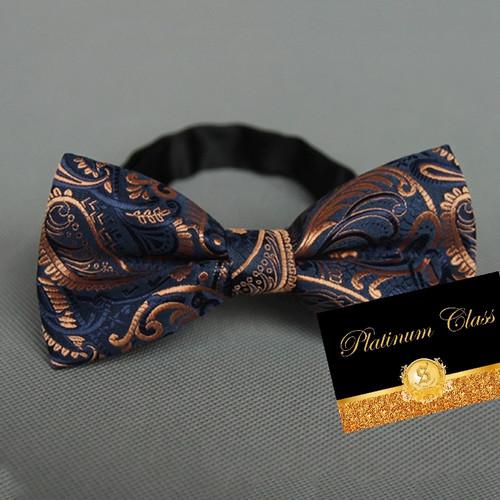 Foto Produk dasi kupu import ukuran dewasa batik navy platinum class dari platinum class
