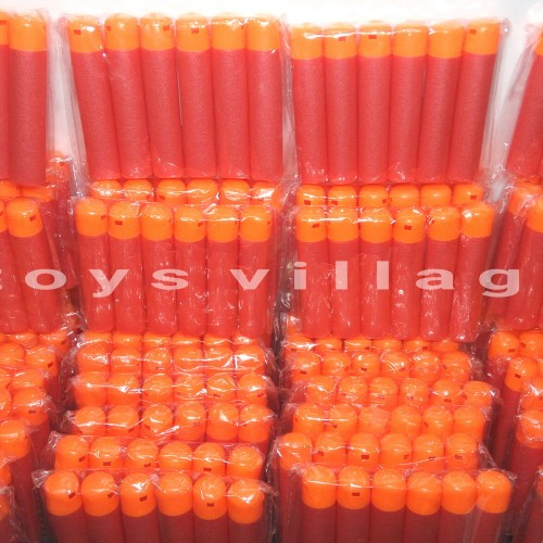 Foto Produk 1Pack (Isi 6pcs) Peluru Nerf Mega Dart Bullet Reffil Foam dari toys village