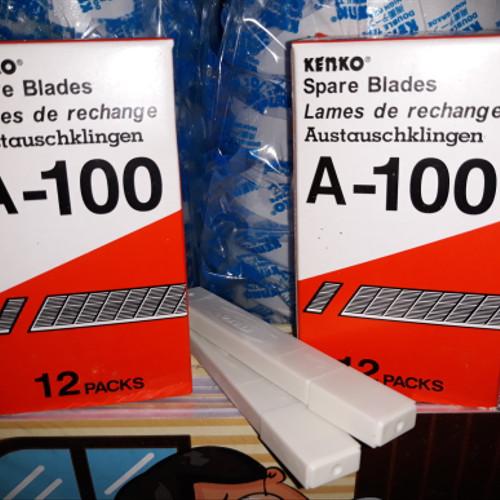 Foto Produk Isi Cutter Kenko A-100 / refill cutter / isi pisau cutter a100 kenko dari Dunia Tape