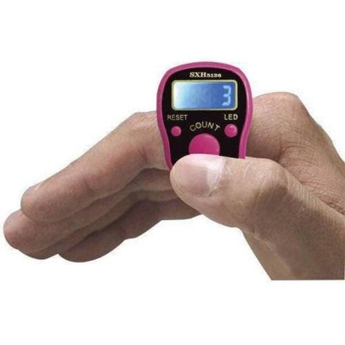 Foto Produk Tasbih LED-Lampu Digital Mini Finger Counter Penghitung Digital Tally dari zero plus