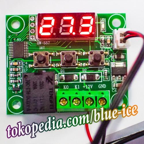 Foto Produk thermostat termostat saklar pengatur suhu otomatis AC DC 12v w1209 dari toko segar aman
