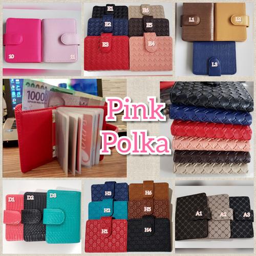 Foto Produk Dompet Kartu / Tempat Kartu Polos dan Motif dari Pink Polka