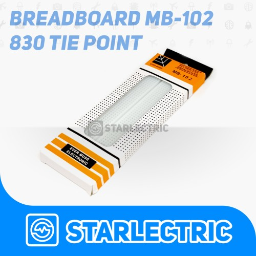 Foto Produk Breadboard 830 Tie Point MB-102 MB 102 Solderless dari Starlectric