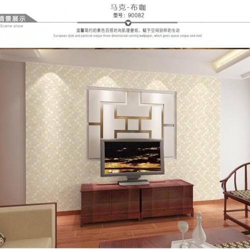 Foto Produk Wallpaper 3D Non Woven Embossed Mosaic Ephedra Plain - Champange 90082 dari Tanaga Online Shop