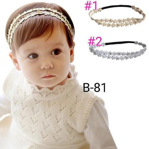 Foto Produk bando bayi dan anak B81 headband - no 2 silver dari BabyGwen
