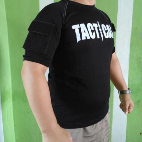 Foto Produk baju kaos oblong tactical sablon - combat shirt - Hitam, M dari Mardo combat