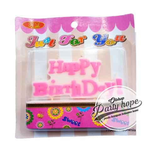 Foto Produk lilin HBD pink / lilin birthday / lilin happy birthday / lilin ukir dari PARTY HOPE 2