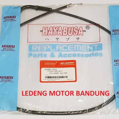Foto Produk Kabel Gas GL100 Throttle Cable GL 100 KW Bukan Original AHM Honda dari Ledeng Motor Bandung