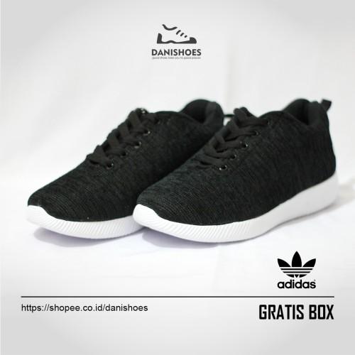Foto Produk SEPATU SEKOLAH HITAM SNEAKERS ADIDAS OLAHRAGA RUNNING WANITA PRIA dari Dani Shoes