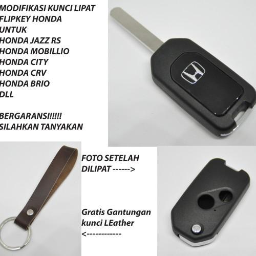 Foto Produk Casing Kunci Lipat Flip Key Mobil Honda Jazz mobilio brio CRV freed - DuaTombol dari Casing kunci