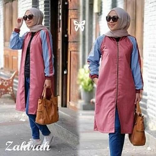 Foto Produk SIS Zahira tunik_ST/stelan muslim murah/jaket wanita murah dari sheen shop