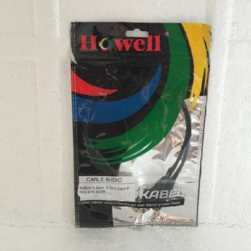 Foto Produk Kabel Aux Audio & Mic Splitter 3.5mm Male To 2 Female Howell Promoo dari LeoKomputer