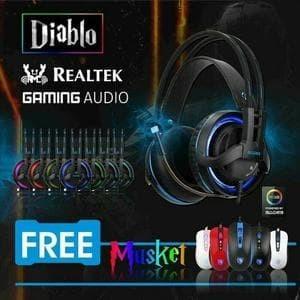 Foto Produk Sades Diablo Gaming Headset - Free Sades Musket Black SA-916 Promoo dari LeoKomputer