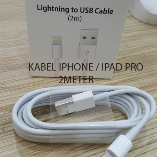 Foto Produk KABEL DATA APPLE iPad Pro 2 meter ORIGINAL USB iPhone 6 iPhone7 dari GADZILA STORE