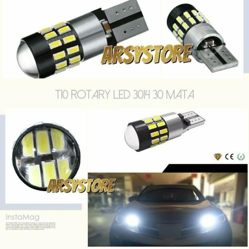 Foto Produk Lampu LED Senja T10 Rotary 30 mata 3014 CANBUS 12V-24V Mobil Motor dari arsystore