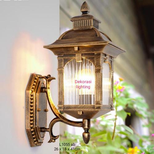Jual L1055 Lampu Dinding Anti Hujan Buat Pilar Taman Waterproof Lampu Pagar Hitam Jakarta Pusat Dekorasi Lighting Tokopedia