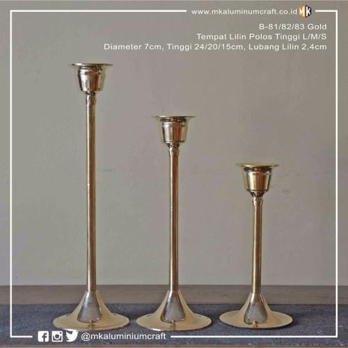 Foto Produk Tempat Lilin Unik Polos Kuningan set 3 LMS - candle holder dari MK Aluminium