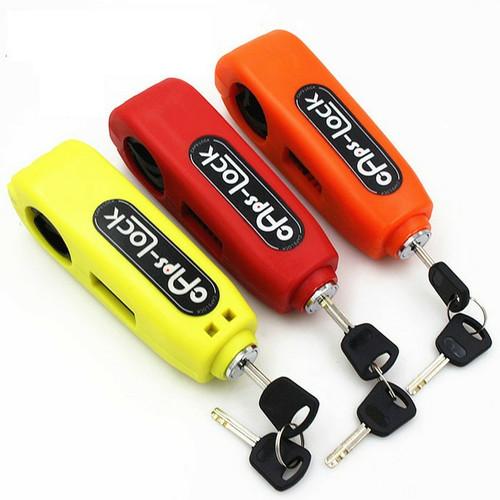 Foto Produk Griplock grip lock kunci gembok pengaman setang motor - Hitam dari hanamigadget
