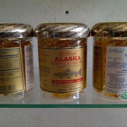 Foto Produk k- max alaska deef sea fish oil/minyak ikan omega3,6,9 tutup gold dari sw88