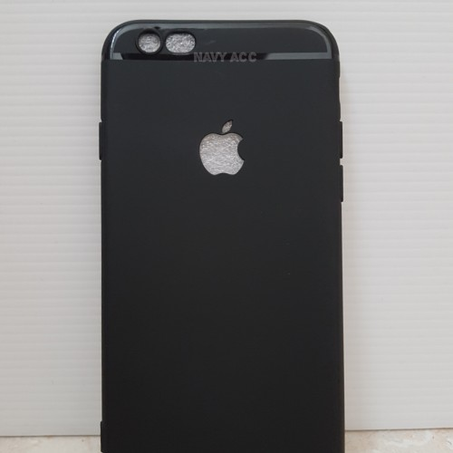 Foto Produk Case IPHONE 6 - Softcase SILICON THIN Black MATTE IPHONE 6 Logo Apple dari Navy Acc