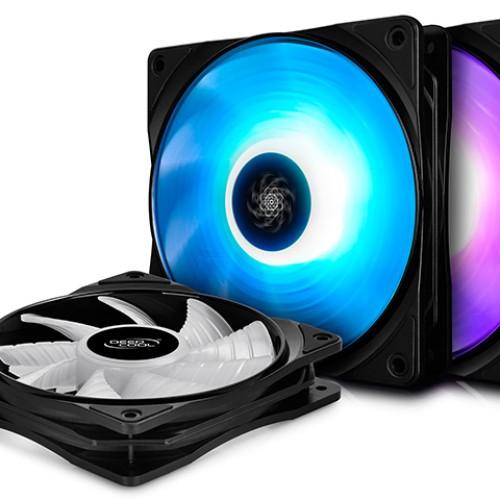 Foto Produk DEEPCOOL RF120 RGB LED Fan 3 in 1 / Fan Casing 12cm 3pcs dari Tetra Computer