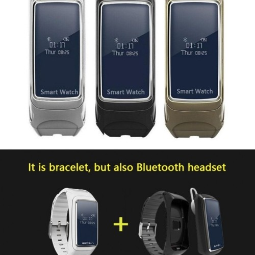 Foto Produk B7 Smart Watch With Detachable Bluetooth Earphone And Heart - OLB2580 dari Jelambarshop71
