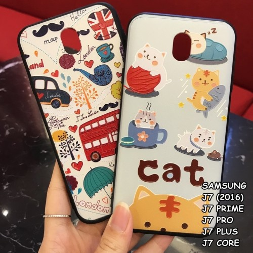 Foto Produk FOR SAMSUNG J7, J7 PRO, J7 PRIME - LONDON CAT 3D RELIEF CASE CASING - J7 2016. CAT dari lakucart
