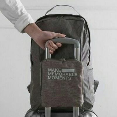 Foto Produk premium Folding extra bag / duffle backpack / tas ransel koper lipat - DARK GREY dari AZISTA SHOP