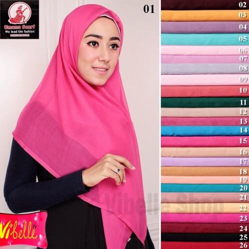 Foto Produk Hijab Jilbab Kerudung Segi empat Paris Umama Warna Polos Jilbab Muslim - NAVY dari Vibelle Shop