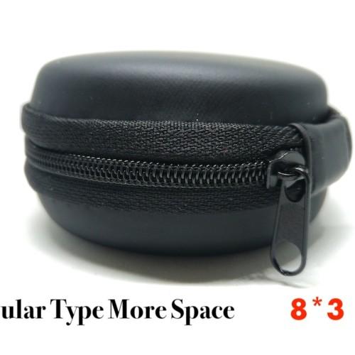 Foto Produk Round Earphone Case Bulat Headset Tempat (8x3cm) dari Onebest Choice