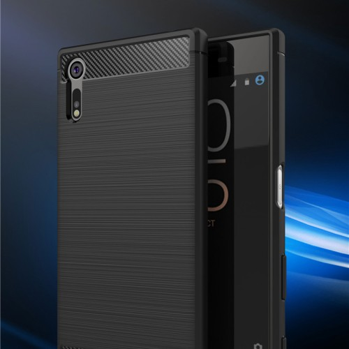 Foto Produk FIBER LINE Sony Xperia XZ Dual case cover casing carbon tpu anti shock dari Casing handphone murah