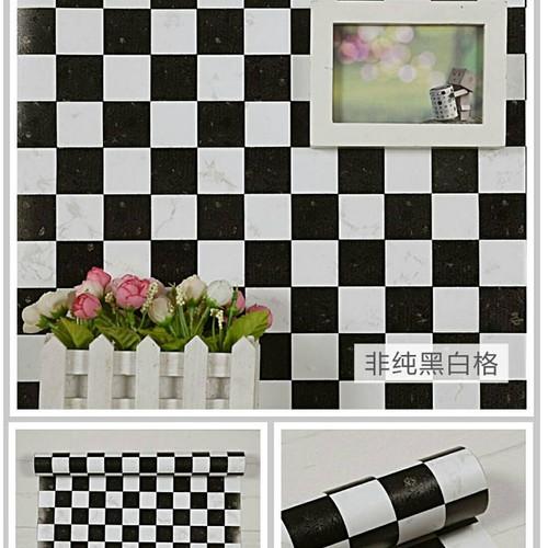 Jual Wallpaper Dinding Motif Kotak Kotak Hitam Putih Kota Bekasi Ritawallpaper Tokopedia