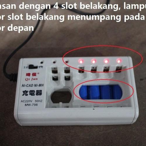 Foto Produk Charger rechargeable 10 in 1 cas pengecas baterai AA/AAA/NI-CD/NI-MH dari wirdi