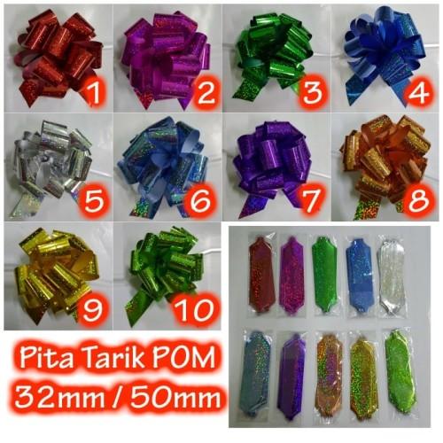 Foto Produk Pita Tarik Pom Hologram 50mm - RIBBON - Orange dari LIVOTECH