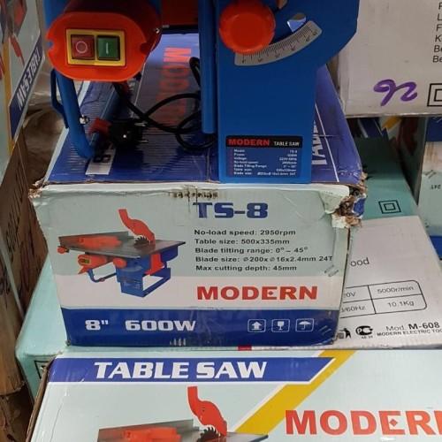 """Foto Produk MODERN Mesin Gergaji Meja Table Circular Saw 8"""" 200 mm TS 8 dari TOKO BESI TIMUR JAYA"""