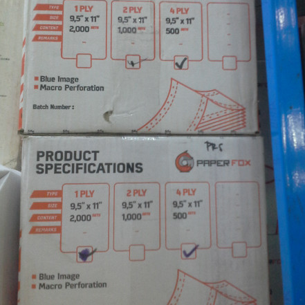 "Foto Produk Continuous Form Paperfox 4 Ply PRS - uk (9.5""/2)x(11""/2) dari PojokITcom Pusat IT Comp"